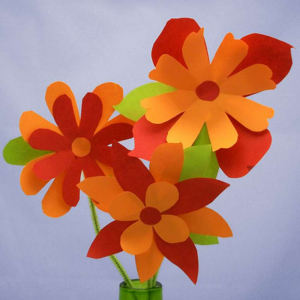 как сделать из бумаги цветок для начинающих
