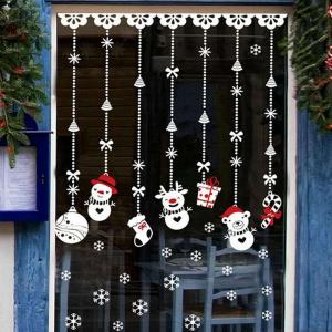 новогодние игрушки трафарет на окно